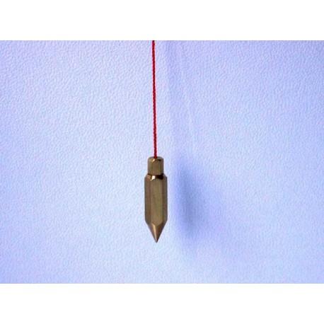 Péndulo metálico con testigo - Hexagonal grande